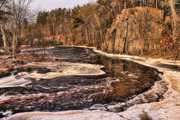 Photograph - Icy Eau Claire River by Dale Kauzlaric