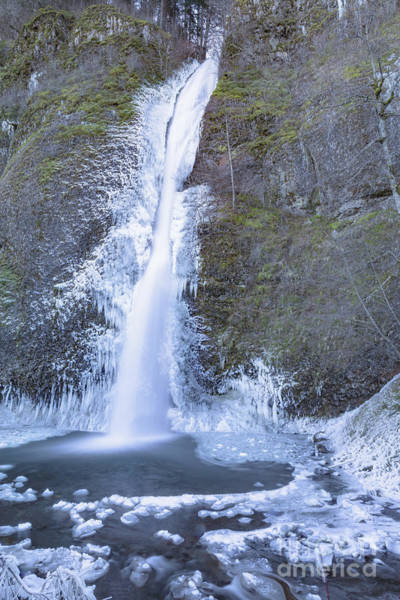 Photograph - Icy Horsetail Falls by Richard Sandford