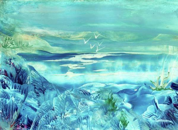 Icy Lake Art Print by Angelina Whittaker Cook