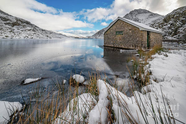 Wall Art - Photograph - Icy Lake Snowdonia by Adrian Evans
