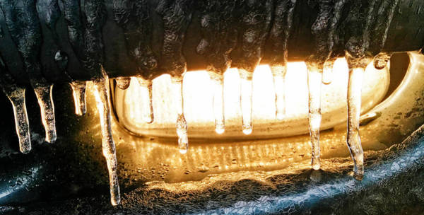 Photograph - Icy Leather Look Driving Light by Robert Knight