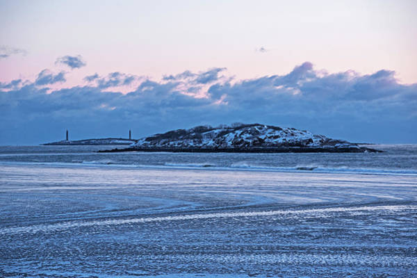 Photograph - Icy Pattern On Good Harbor Beach Gloucester Ma by Toby McGuire