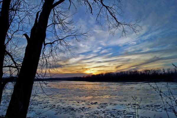 Photograph - Icy River by Cricket Hackmann