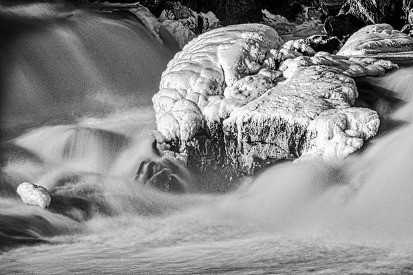 Photograph - Icy Rocks In The River by Stuart Litoff