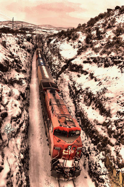 Wall Art - Photograph - Icy Train In The Palouse by Jeff Swan
