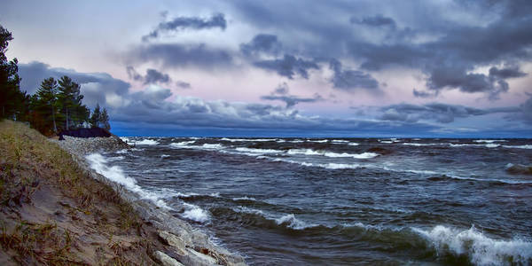 Photograph - Icy Waters Of Superior by Evie Carrier