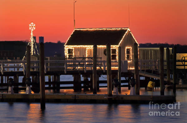Wall Art - Photograph - Ida Lewis Yatch Club Dock by Jim Beckwith