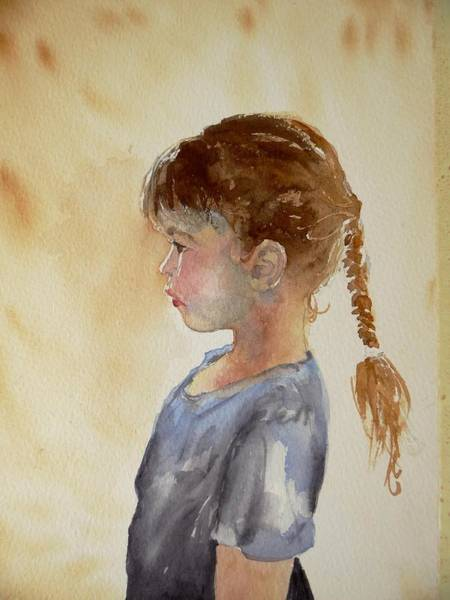Painting - Ida With Braid by Pat Dolan