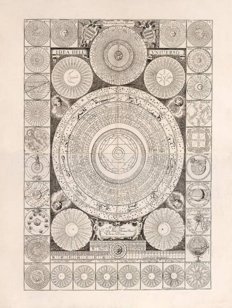 Model Drawing - Idea Dell Universo - Model Of The Universe - Celestial Chart - Astronomical Chart by Studio Grafiikka