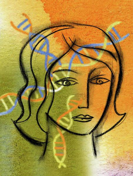 Double Helix Painting - Identity by Leon Zernitsky