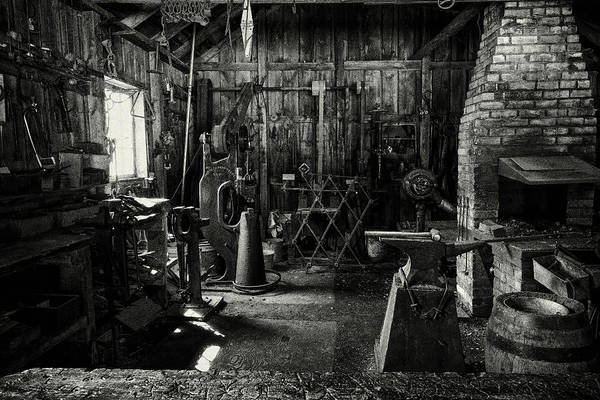 Art Print featuring the photograph Idle Bw by David Buhler
