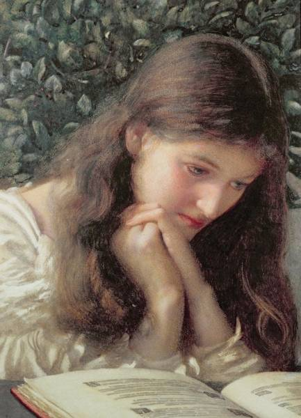 Reader Wall Art - Painting - Idle Tears by Edward Robert Hughes