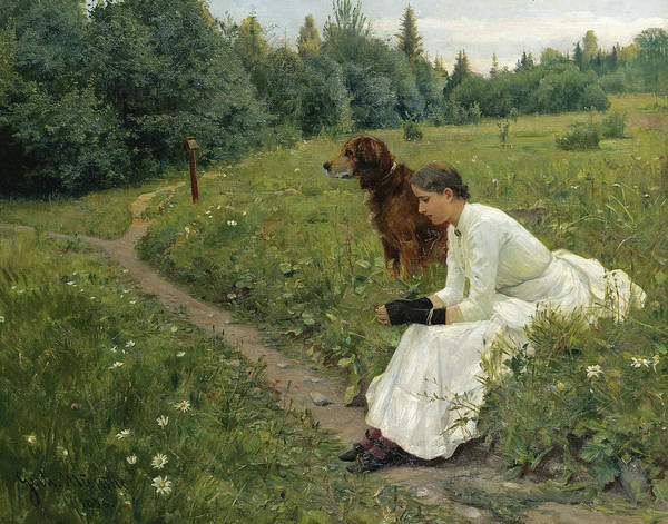 Painting - Idyll by Gerhard Munthe