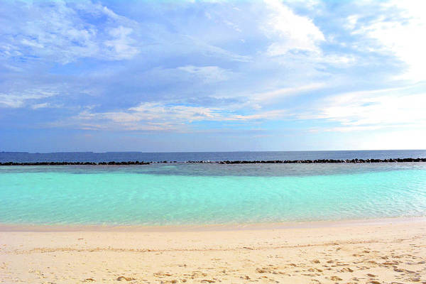 Photograph - Idyllic Beach In The Maldives With Clear Blue Water by Oana Unciuleanu