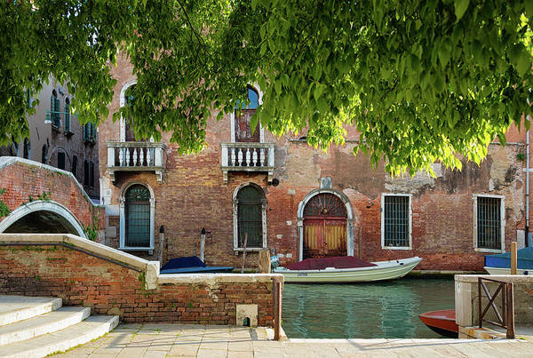 Photograph - Idyllic Canal And Architecture In Venice Italy by Matthias Hauser