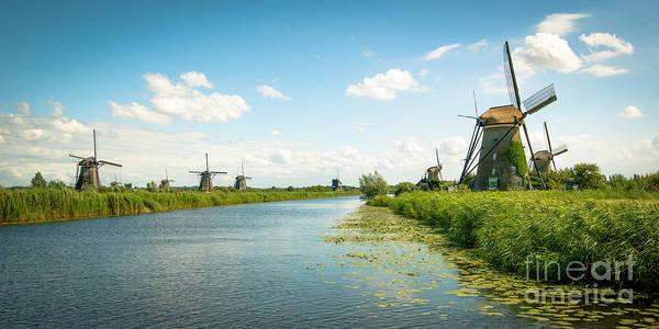 Photograph - idyllic Kinderdijk by Hannes Cmarits