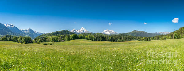 Wall Art - Photograph - Idyllic Landscape In The Bavarian Alps, Berchtesgaden, Germany by JR Photography