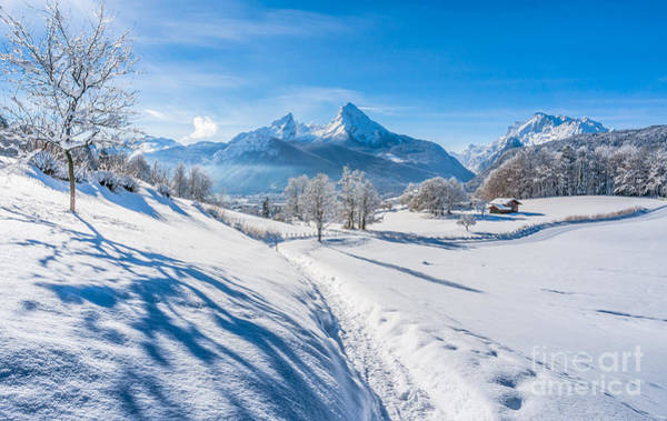 Wall Art - Photograph - Idyllic Landscape In The Bavarian Alps, Germany by JR Photography