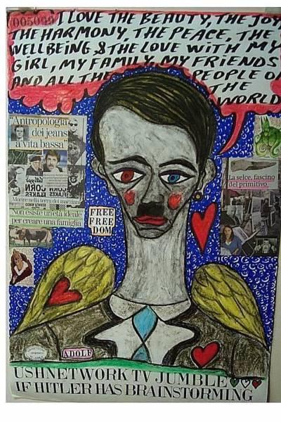 Wall Art - Mixed Media - If Hitler Has Brainstorming by Francesco Martin