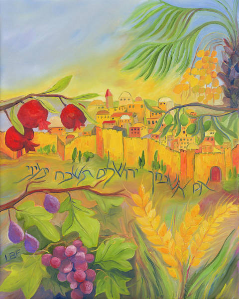 Barley Painting - If I Forget Thee Jerusalem by Lesley Friedmann