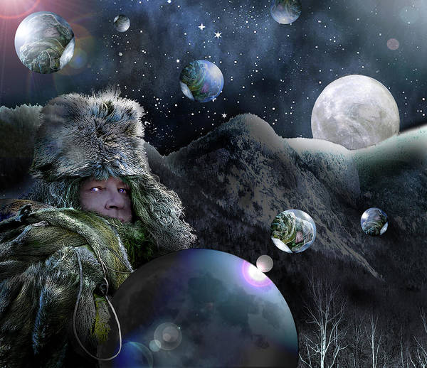 Digital Art - If I Were The Moon by Nancy Griswold