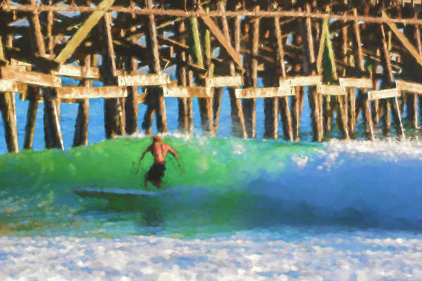 Digital Art - If The Dude Surfed Surfing Watercolor by Scott Campbell
