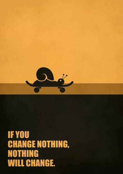 Wall Art - Digital Art - If You Change Nothing, Nothing Will Change Business Quotes Poster by Lab No 4
