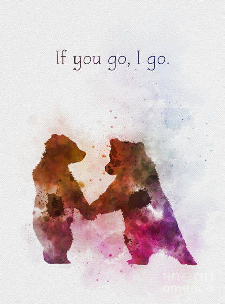 Watercolour Mixed Media - If You Go, I Go by My Inspiration
