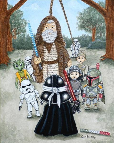 If You Strike Me Down I Shall Reward You With Candy Art Print by Al  Molina