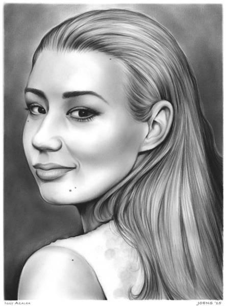 Drawing - Iggy Azalea by Greg Joens