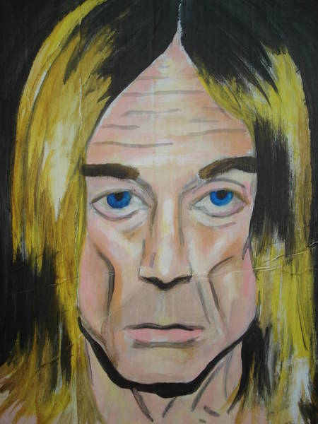 Iggy Pop Painting - Iggy by Dario Mohr