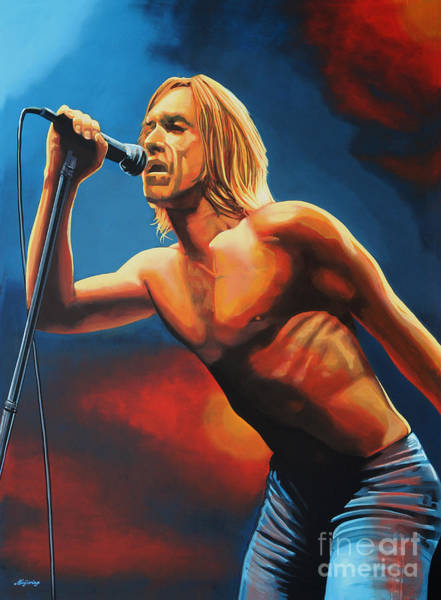 Wall Art - Painting - Iggy Pop Painting by Paul Meijering