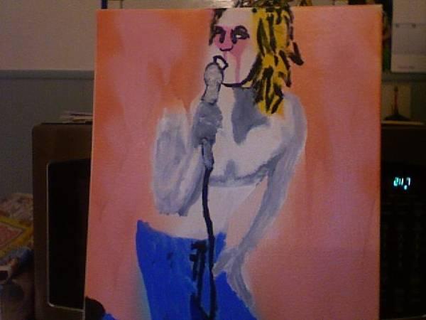 Iggy Pop Painting - Iggy Pop by Thomas Bonnette