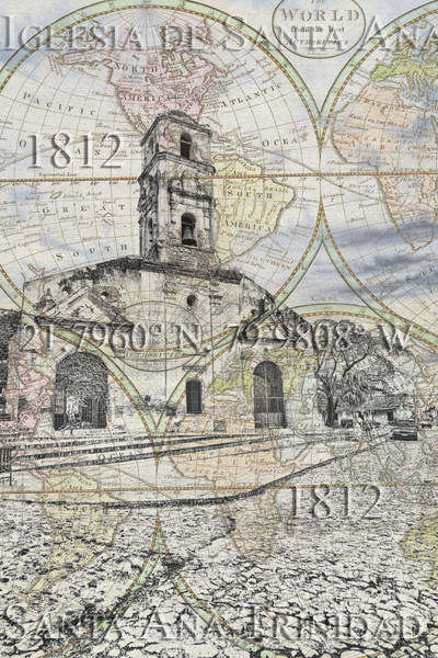 Iglesia De Santa Ana Passport Art Print