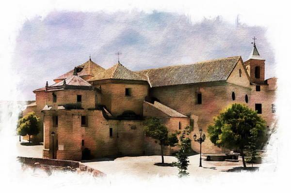 Digital Art - Iglesia Del Carmen Square by Anthony Dezenzio