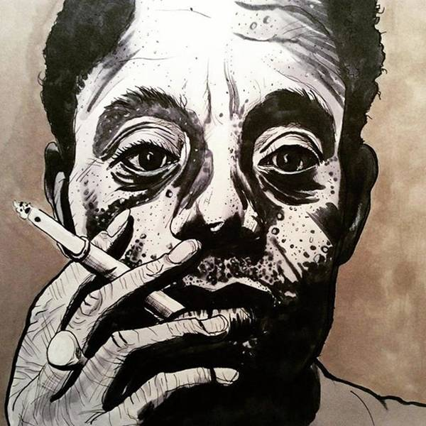 Drawing - James Baldwin by Russell Boyle
