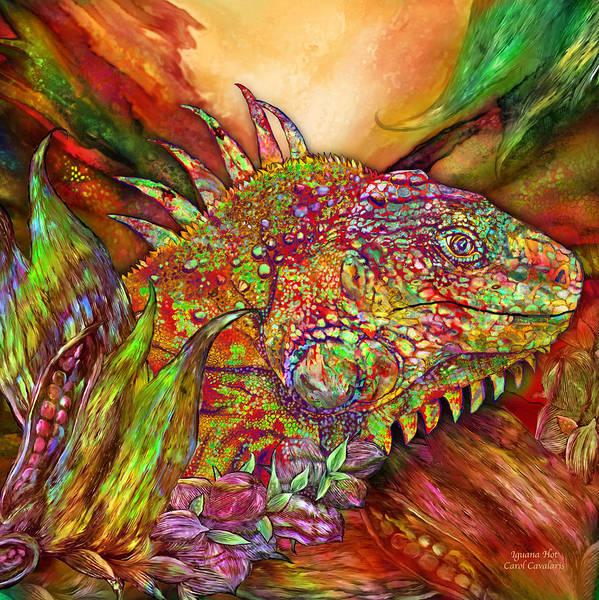 Mixed Media - Iguana Hot by Carol Cavalaris