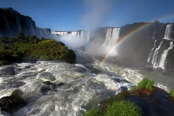 Photograph - Iguassu Falls And Rainbow by Aivar Mikko