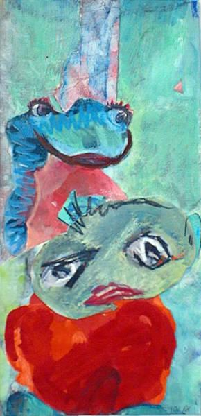 Painting - Ihmsens Schwester/ Ihmsen S Sister by Annette Kunow
