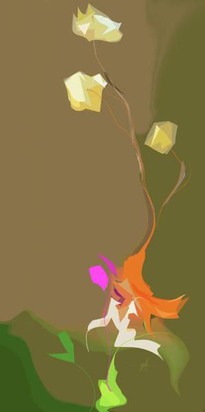 Digital Art - Ikebana Humoresque by Gina Harrison