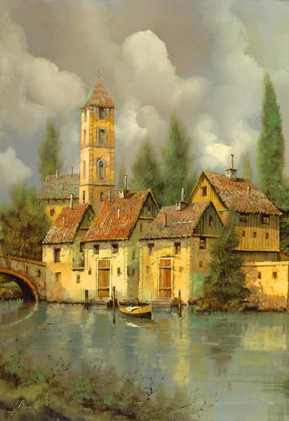 Village Painting - Il Campanile Di Villa Giusti by Guido Borelli