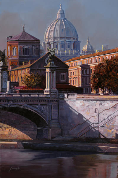 Cityscapes Wall Art - Painting - Il Cupolone by Guido Borelli