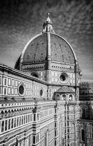 Wall Art - Photograph - Il Duomo Florence Italy Bw by Joan Carroll