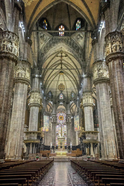 Photograph - Il Duomo Milan Interior by Joan Carroll