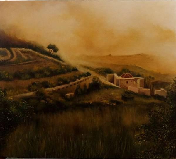 Benny Painting - Il-fawwara by Benny Brimmer