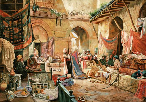 Master Wall Art - Painting - Il Mercato by Guido Borelli