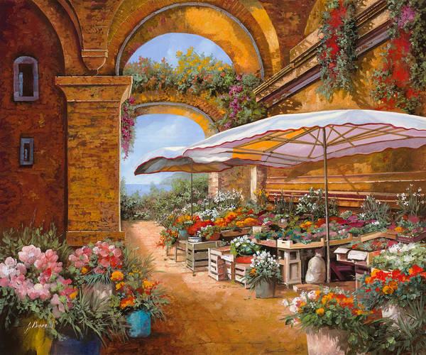 Wall Art - Painting - Il Mercato Sotto I Portici by Guido Borelli