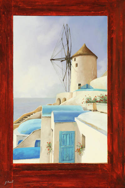Wind Painting - Il Mulino Oltre La Finestra by Guido Borelli
