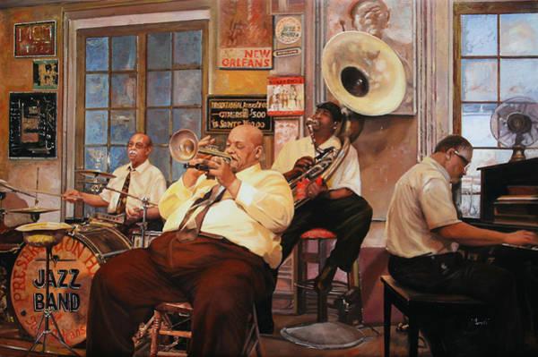 Sax Painting - Il Quintetto by Guido Borelli