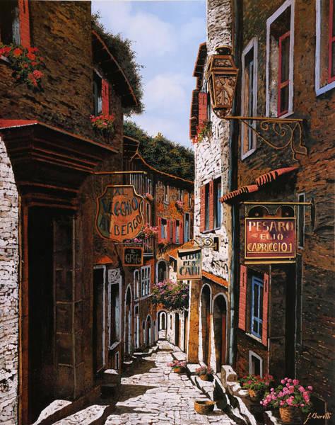 Borelli Painting - Il Vecchio Albergo by Guido Borelli